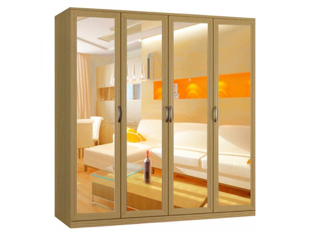 """""""классика 4.4з-ф"""" шкаф распашной с зеркальными дверями - vir."""