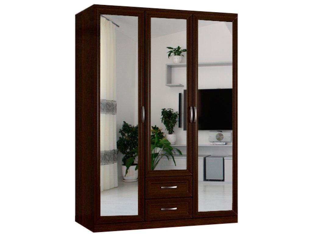 Шкаф горизонт 3 с двумя зеркалами за 11600 руб., фото.