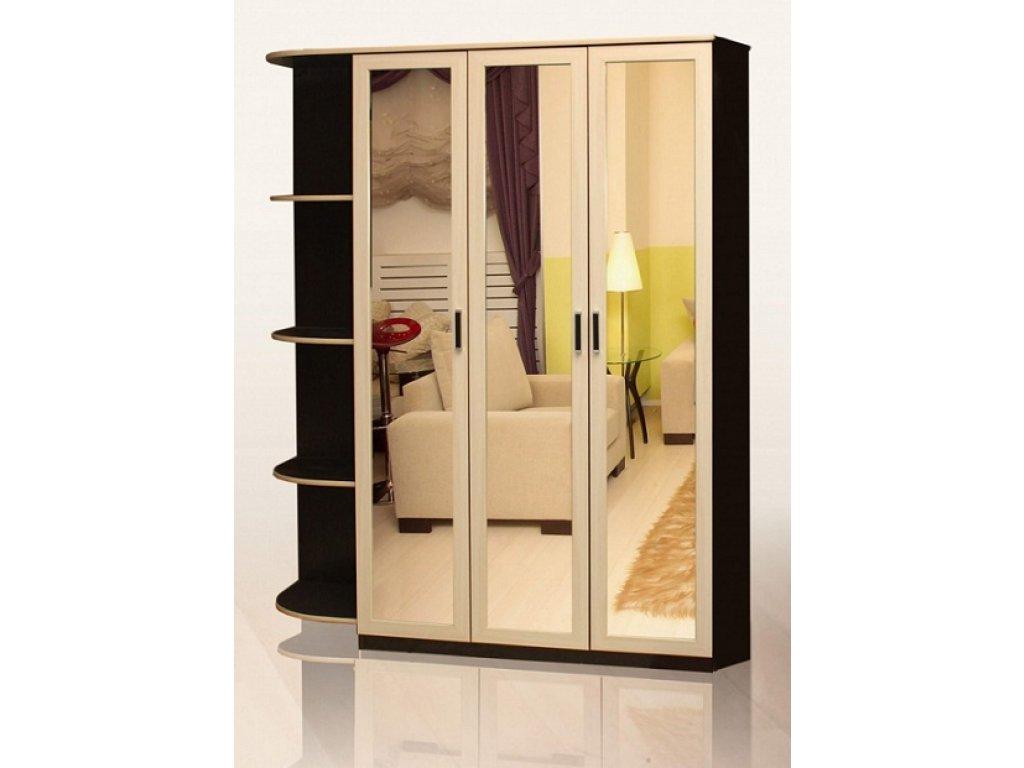 Шкаф пенал горизонт с зеркалом за 7600 руб., фото.