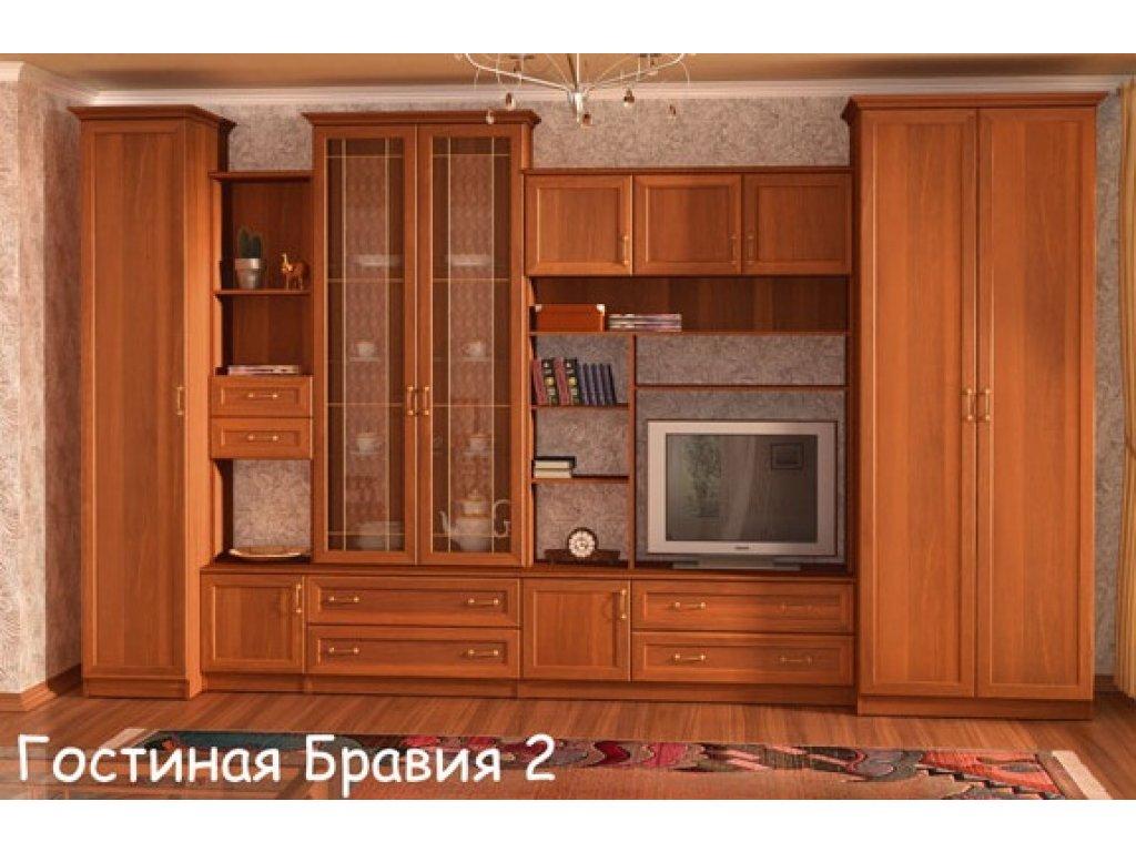 Гарнитур для гостиной фабрика мебели комфорт стенка бравия-2.