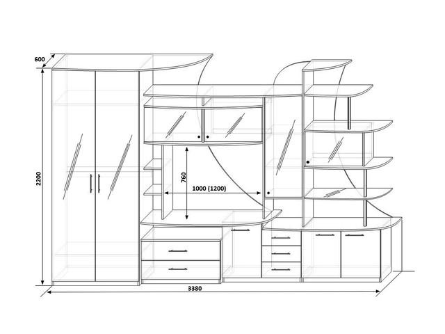 Стенка в гостиную. чертежи схемы. стенка своими руками