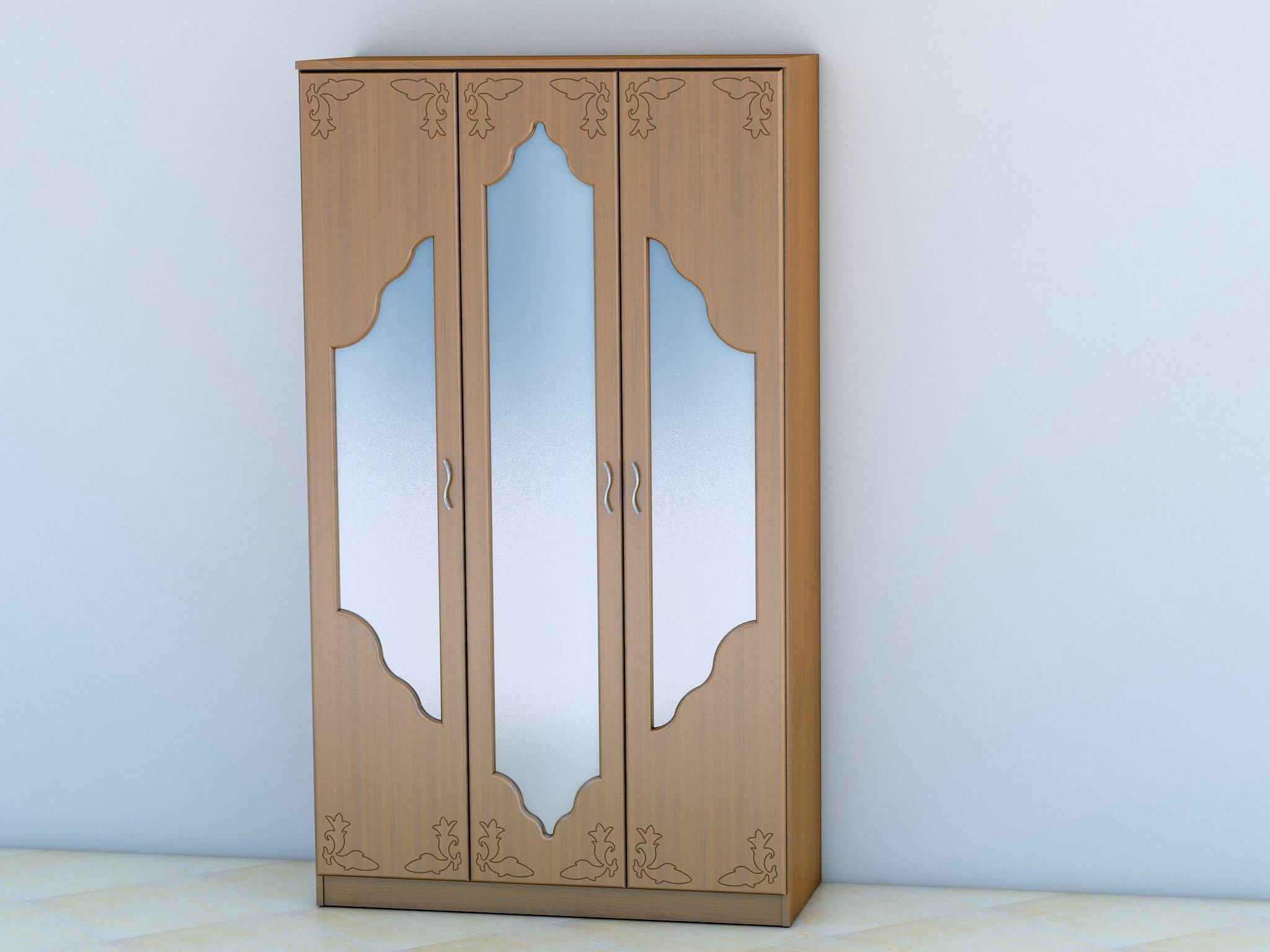 Шкаф горизонт 3 с тремя зеркалами за 12100 руб., фото.