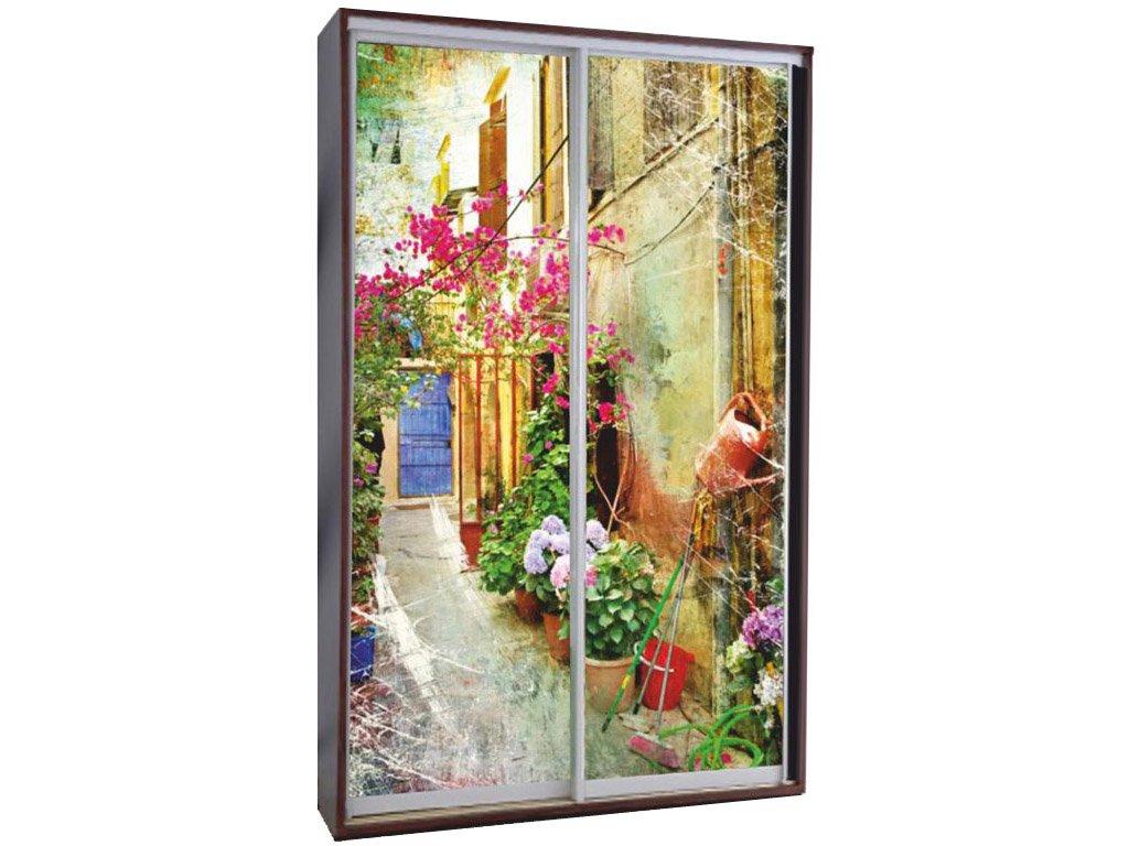 шкаф купе с фотопечатью цветы 02029 за 12800 руб