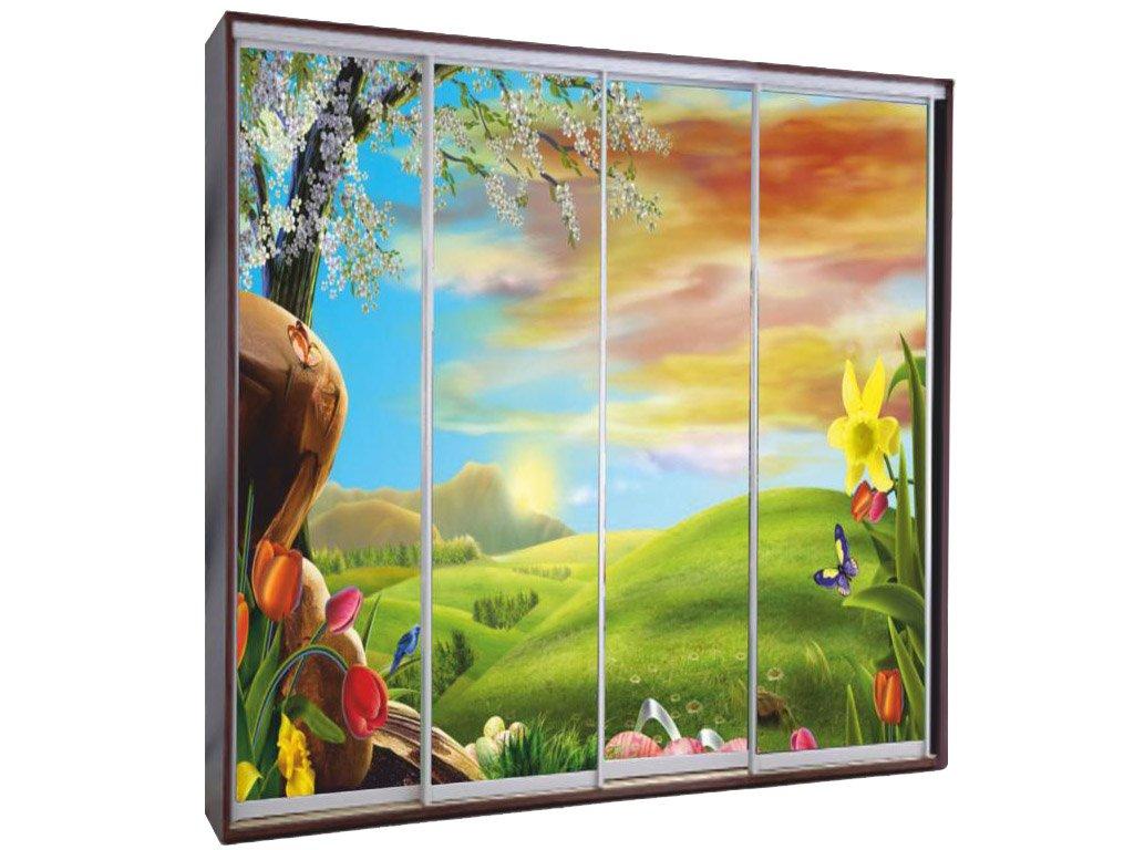 Шкафы купе с рисунком - количество дверей, шт.: 4; рисунок: .