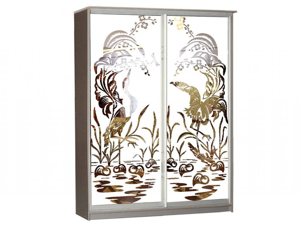 Рисунок шкаф купе зеркало птицы фото