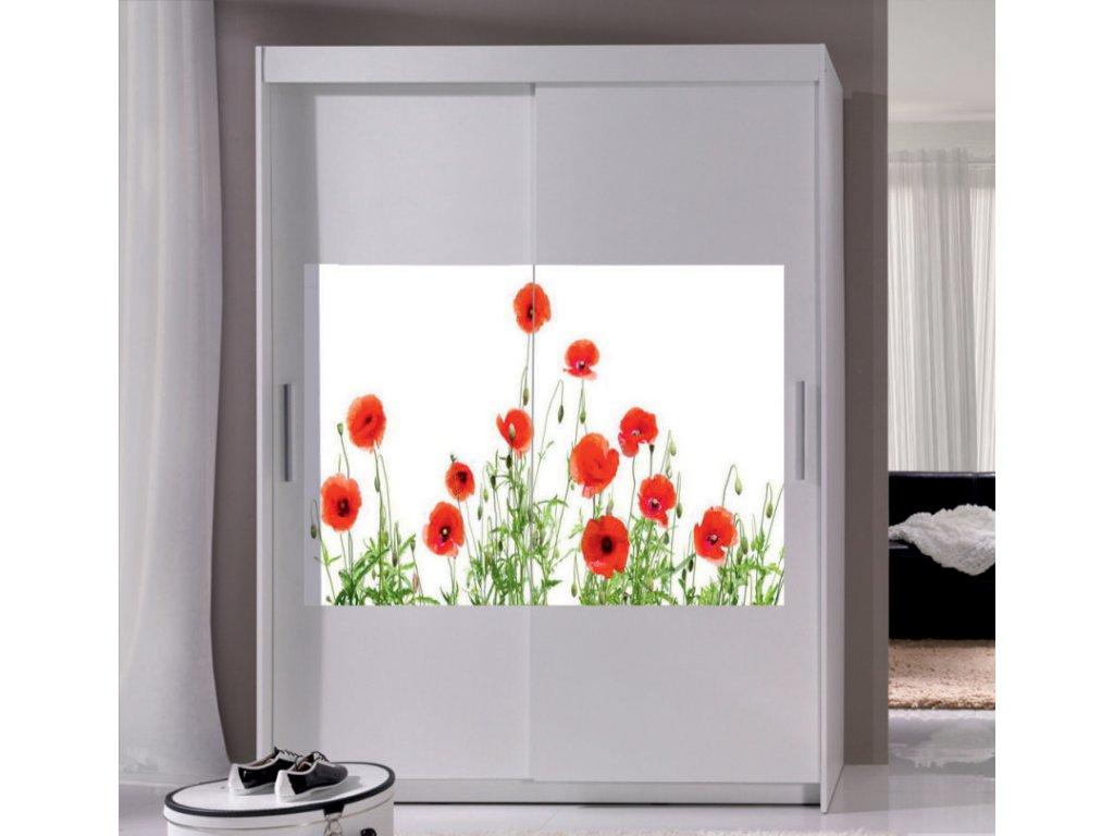 шкафы купе с фотопечатью цветы чтобы красиво