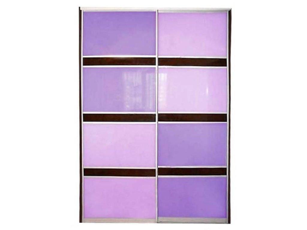Фото цветного стекла в шкафах купе