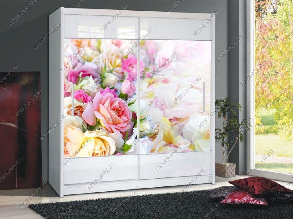шкаф купе с фотопечатью цветы 2235 за 12000 руб