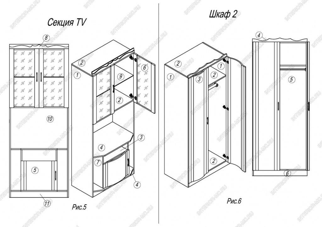 инструкция по сборке стенка каприз 7