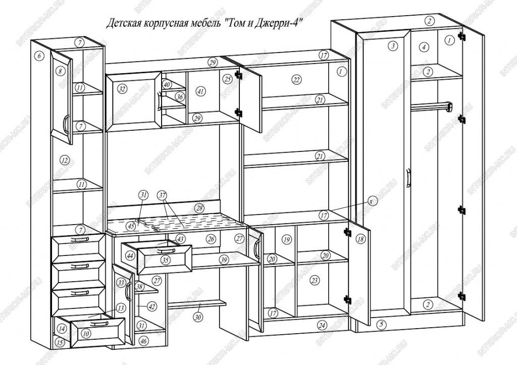Корпусная мебель своими руками чертежи 57